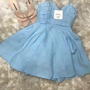 Pretty Blue Sabo Skirt Dress